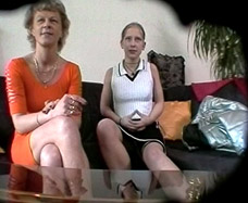 mother and daughter are caught on a hidden camera