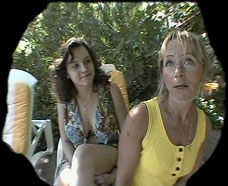 mother and daughter filmed on a spy camera