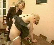 teacher spank Lesbian