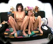 mother and daughter naked showing pussy