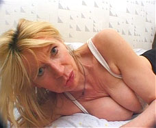 mom lying on bed