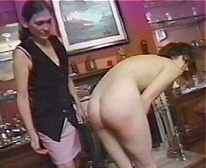 girl must bend over and be spanked