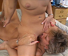girl sits on mature womans face