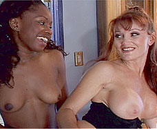young black girl with lesbian mature woman