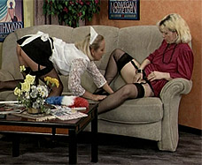 maid is treated as a lesbian slave by woman