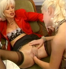 Two girls lesbian fisting the manager