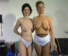 Real mother and daughter at their porn film audition.